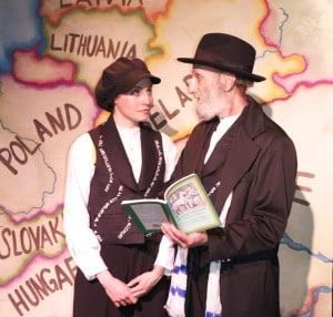 Two actors from Page2Stage Express show the book,and the story on stage!