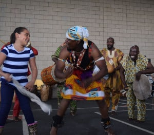Okropong/The Obo Addy Legacy Project performs at Aloha-Huber Park Elementary
