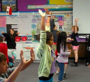 Jailah performs with classmates at Fir Grove in Jessica West's 4th grade classroom.